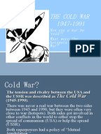 to what extent was the cold war inevitable an overview of the cold war