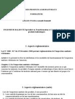Qualité des produits agropastoraux EAP1