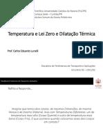 Encontro 03 - Temperatura e Lei Zero e Dilatação Térmica(1)
