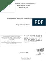 Coro Cênico Uma Nova Poética Coral No Brasil