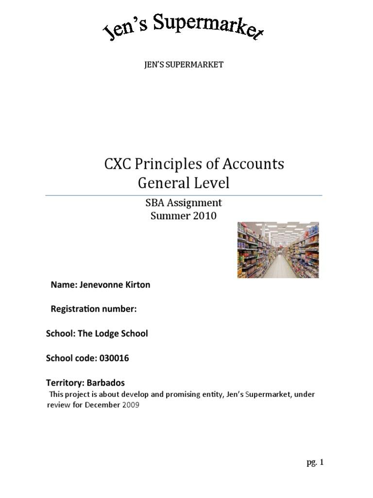 Principle of accounts sba.