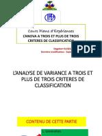 L'Analyse de Variance a Trois Et Plus de Trois Criteres 011018