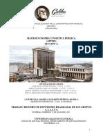 Administracion de Las Finanzas Publicas. Seccion a. Macroeconomia y Politica Publica. Resumen de Expositores Del Dia 20 de Julio Del 2021.
