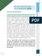 conduta hiperplasia urulógica benigna