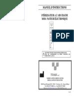 TITANOX s.r.l. MANUEL D INSTRUCTIONS STÉRILISATEUR A L AIR CHAUDE MOD. PASTEUR ÉLECTRONIQUE