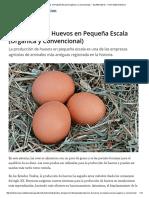 Producción de Huevos en Pequeña Escala (Orgánica y Convencional) — Ag Alternatives — Penn State Extension