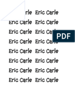 Eric Carle Book Scripts and Clipart