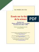 Essais Science 2 Max Weber