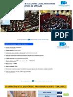Informe Electoral Pcia. de Santa Fe - 24 de Agosto