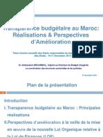 transparence budgetaire au Maroc