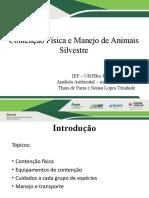 Palestra contenção e manejo de animais silvestres
