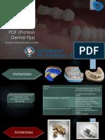 Materiales de una PDF (Prótesis dental fija)