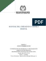 Manual del ciudadano - Cedula Digital