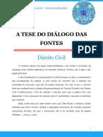 A Tese Do Diálogo Das Fontes