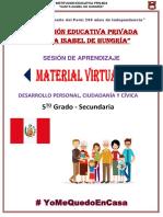 5° SEC DPCC SESIÓN DE CLASE 6 PLATAFORMA VIRTUAL