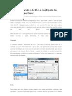 TUTORIAL GIMP Utilizando o Brilho e Contraste Da Imagem a Seu Favor