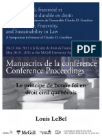 Conférence Charles D Gonthier - Louis LeBel