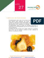 Deshidratado de frutas
