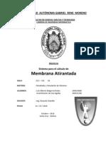 Informe Sistema para el cálculo de Membrana Atirantada