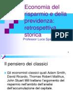 storia teorie del risparmio