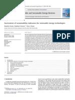 Evans et al. - 2009 - Assessment of sustainability indicators for renewa