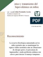 Diagnóstico y tratamiento del choque hipovolémico en niños
