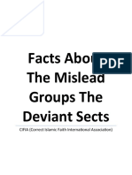 Facts About the Mislead Groups the Deviant Sects
