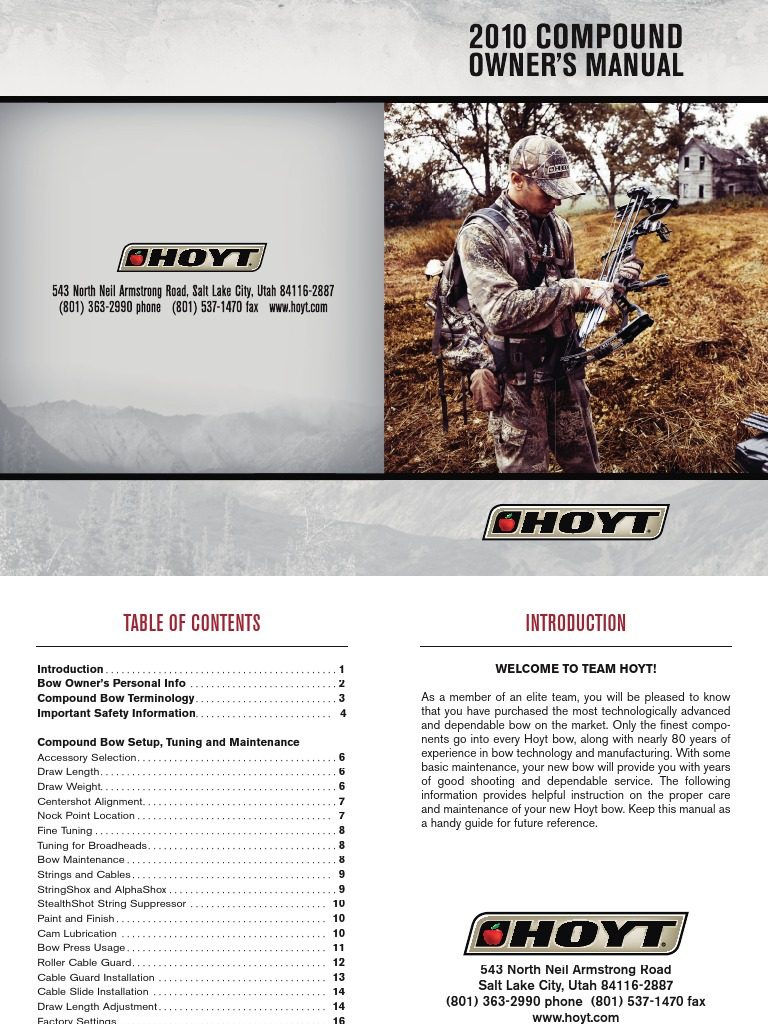 10 compound manual bow and arrow arrow rh scribd com hoyt ruckus jr owner's manual hoyt vector turbo owners manual