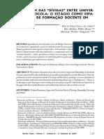 """Artigo """"Para além das dívidas entre Universidade e Escola"""