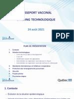 Quebec COVID-19 Vaccine Passport Technology August 24 2021