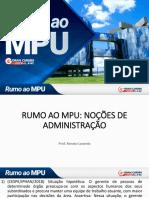 Renato Lacerda - Administração RUMO AO MPU