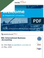 MSc IB Accounting
