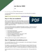 Install Windows Server 2003
