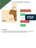 Plan des comptes du système comptable OHADA PDF - Télécharger, Lire