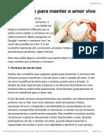 3 princípios para manter o amor vivo -  PsychAlive
