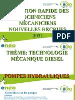 Formation Nouvelle Recrue Pompe Hydraulique