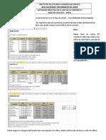 Actividad de La Funcion Si en La Hoja de Calculo Excel