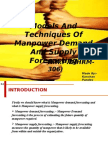 Models and techniques of manpower demand and supply forecasting_Kanchan Pandey)