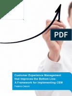 A Customer Experience Management Framework