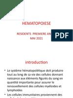 Résidents  HEMATOPOIESE