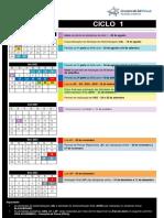 Calendario DOLS 20212 Ciclo 1