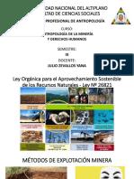 5 Métodos de la explotación minera en el Perú