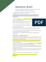 Immanuel Kant - Appunti - Introduzione + Critica della Ragion Pura