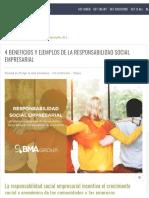 4 Beneficios y Ejemplos de La Responsabilidad Social Empresarial