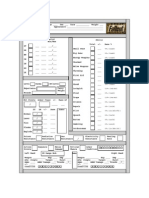 Fallout PNP character sheet