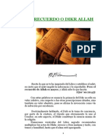 EL RECUERDO O DIKR ALLAH