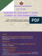 LEY 045_Ley-Contra-Racismo Y toda forma de discriminación