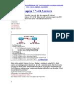 CCNA 2 Chapter 7 V4.0 Answers 2011
