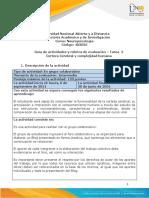Guía de actividades y rúbrica de evaluación - Unidad 1 - Tarea 2 - Corteza Cerebral y complejidad humana