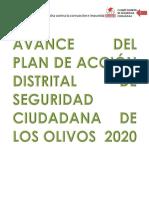 Avance Del Plan de Accion Distrital de Sc 2020
